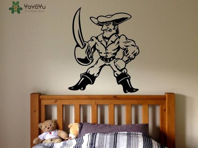 Pirate Wall Decal For Kids Rooms Cartoon Movie Vinyl Wall Stickers Cool Boy  Girls Bedroom Decor