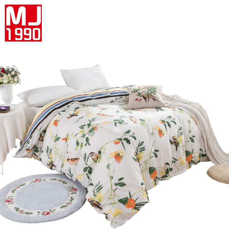 Reactive Printing Cotton Twill Bedding Quilt Cover 100% Cotton Duvet Cover 1Pcs Pastoral Style Blend Duvet Cover Free Shipping