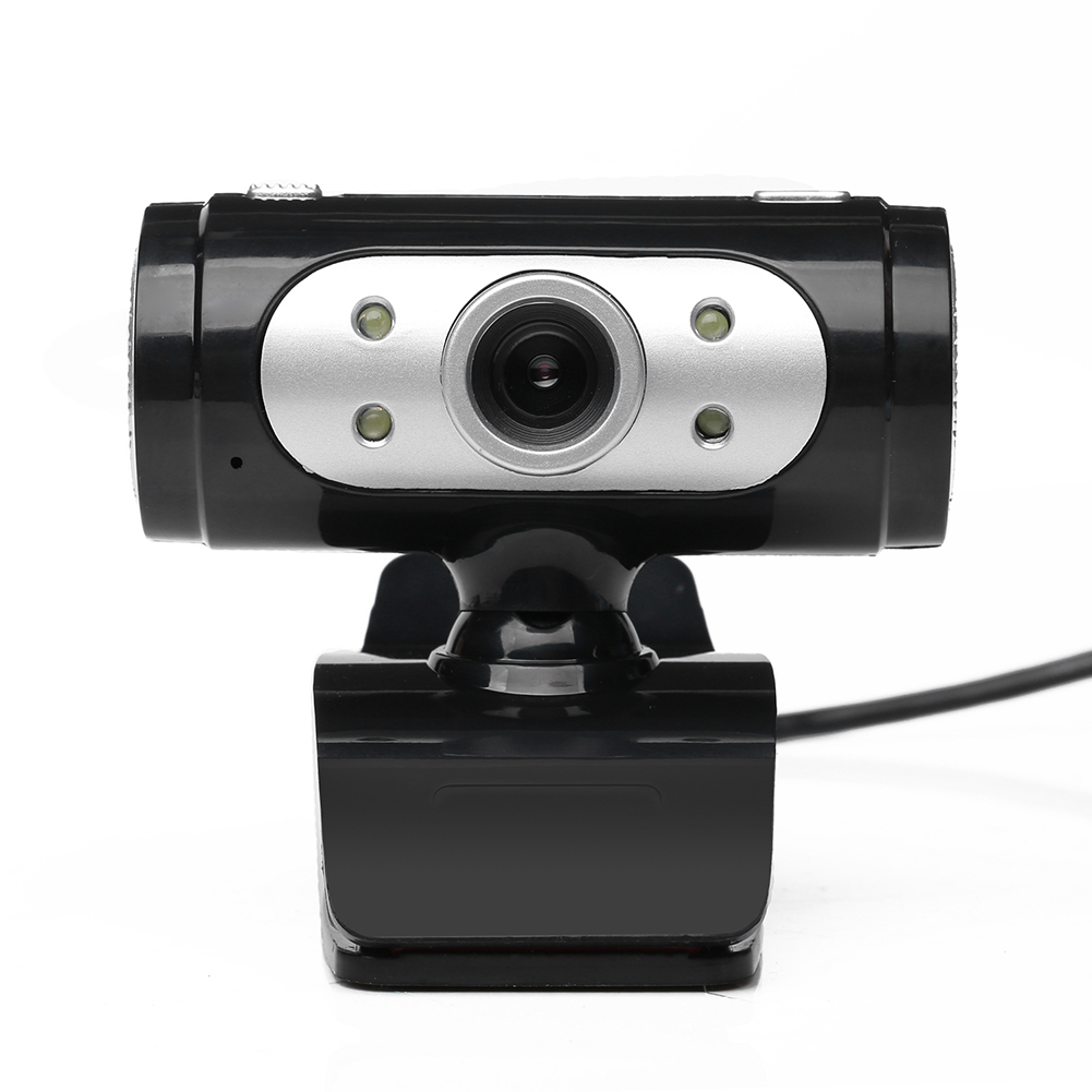 High Definition HD Webcam 1280*720 720p Pixel 4 LED  Web Cam Camera With Night Lights for Computer 1