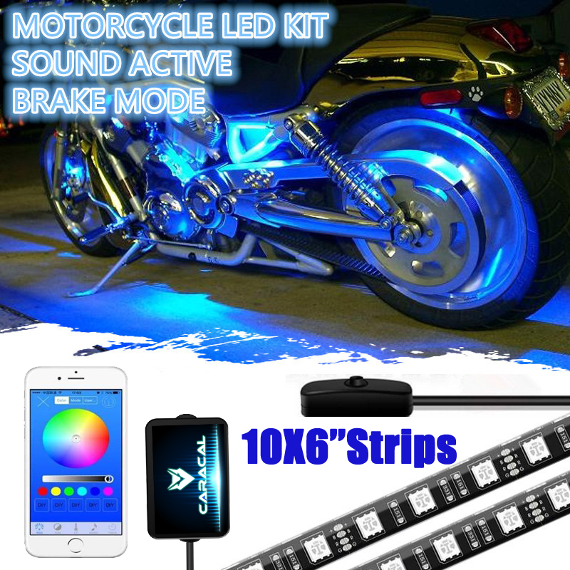 Caracal Smart Phone Bluetooth App control Motorcycle NEON Accent LED Lights Strip Kit For Suzuki Hayabusa