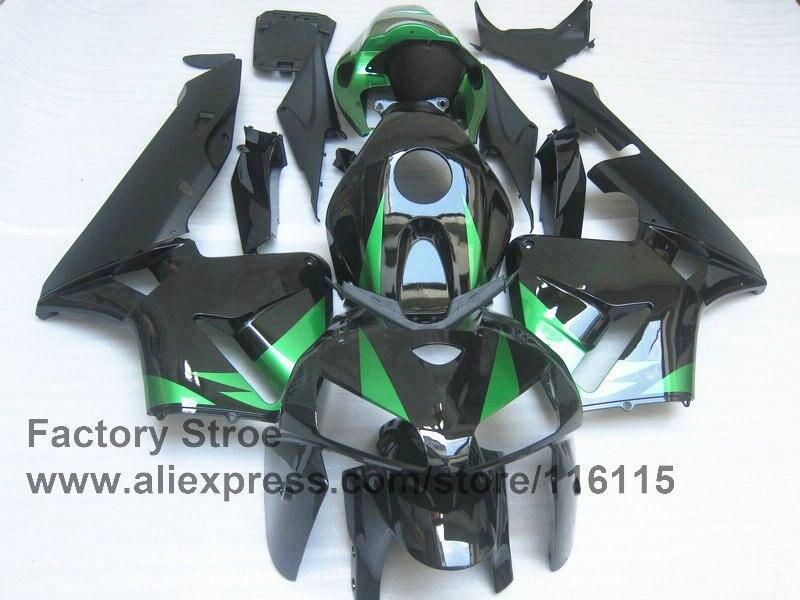 7gifts 100% Injection Molding fairings hulls for HONDA 05 06 CBR 600 RR 2005 2006 CBR600RR black green fairing body parts