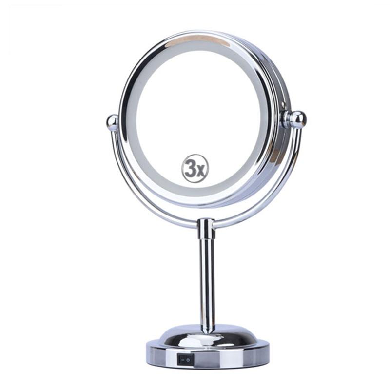 Usb Tisch Kosmetik Spiegel Led Frauen Gesichts Make-up Spiegel 360 Grad Rotation 4 X Aa Batterie nicht Enthalten