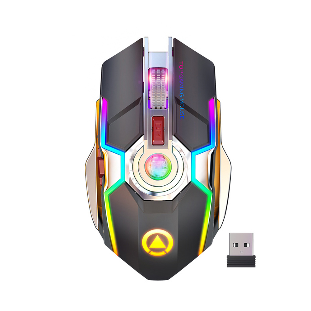 Image 5 - Wireless Gaming Mouse Rechargeable Gaming Mouse Silent Ergonomic 7  Keys RGB Backlit 1600 DPI mouse for Laptop Computer Pro Gamer-in Mice  from Computer