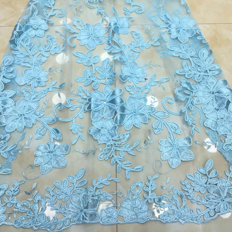 Newly designed stylish African gauze lace fabric, high quality party dress, embroidered fabric 5 yards / muchNewly designed stylish African gauze lace fabric, high quality party dress, embroidered fabric 5 yards / much