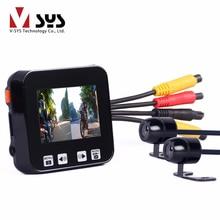 Vsys C6 Motorcycle 2.0″TFT Touch Key Dual HD Waterproof Sync Recording Lens GPS Tracker Dash Car Camera Motorbike Sport DVR