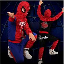 3-10 Years New Boys Clothing Sets Cartoon Spider man Boys Clothes Suit Children Hooded Jacket+Pants 2pcs Kids Clothes Set