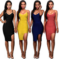 New arrival  olive spaghettii straps cut out woman  bandage dress sexy slim dress antumn and winter sling nightclub on sale