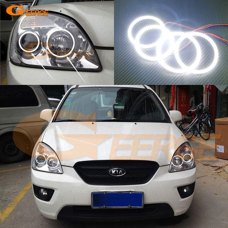 For KIA Carens 2006 2007 2008 2009 2010 2011 2012 Excellent Ultra bright illumination smd led Angel Eyes Halo Ring kit
