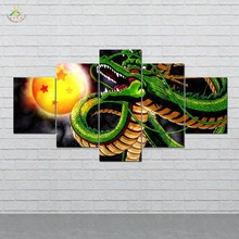Anime Dragon Ball No. 4 Picture And Poster Canvas Painting Modern Wall Art Print Pop Pictures 5 Pieces