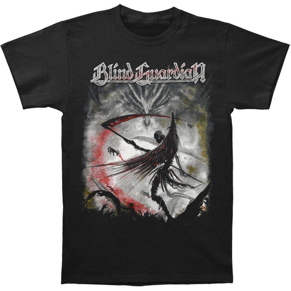 Blind Guardian Mens Wacken T-shirt 3XL-Large Black Summer Short Sleeves Cotton T Shirt Top Tee Couple Breathable Kawaii