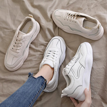 Spring/Autumn 2019 Women Shoes Flats Platform Shoes Woman Fashion Sneakers Lace-up Low-cut Casual White Shoes Luxury Designers woman sneakers metallic color woman shoes front lace up woman casual shoes low top rivets embellished platform woman flats brand