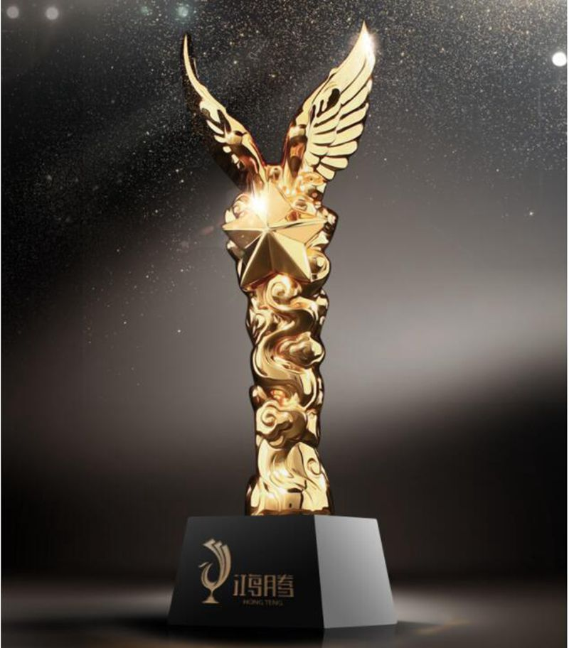 High quality!2018 NEW Tengfei wings resin metal trophy crystal trophy, five pointed star trophy,Free shipping все цены
