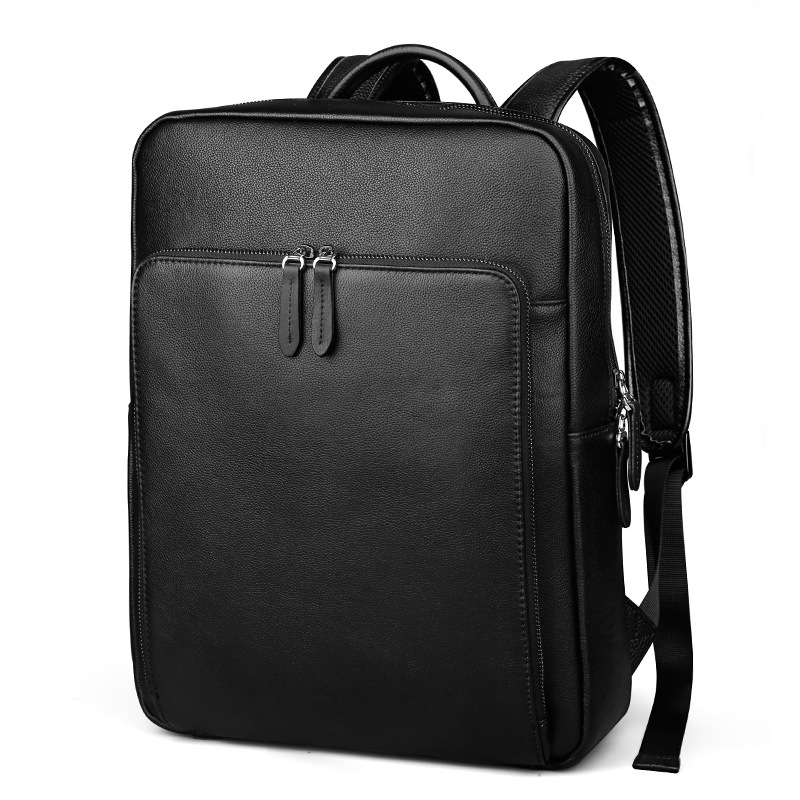 Men Bag Genuine Leather Men's Backpack Male Natural Leather Laptop Computer Bags Waterproof Travel Bag School Bags Free Shipping ozuko multi functional men backpack waterproof usb charge computer backpacks 15inch laptop bag creative student school bags 2018