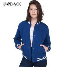 Bomber Jacket Women 2017 new brand plus size baseball jacket woman 3xl long sleeve blue Chaquetas Mujer black outwear coat TB936