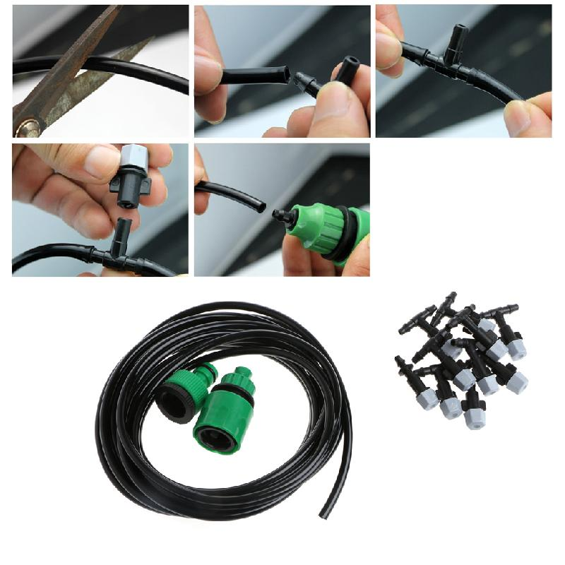 5m Garden Plants Irrigation Patio Misting Hose Mister Nozzles Cooling System In Watering Kits From Home On Aliexpress Alibaba Group