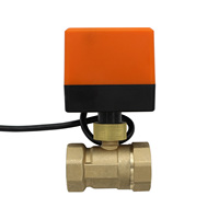 AC220V AC24V DC24V DC12V NPT thread brass ball valve Motorized Ball Valve Electric Ball Valve two way valves DN25