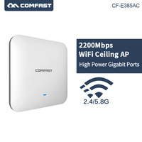 2200Mbps Gigabit Powerful Indoor Wireless Ceiling AP WiFi Access Point AP Wi Fi Router 1*10/100/1000Mbps Wan/WAN openWRT Router