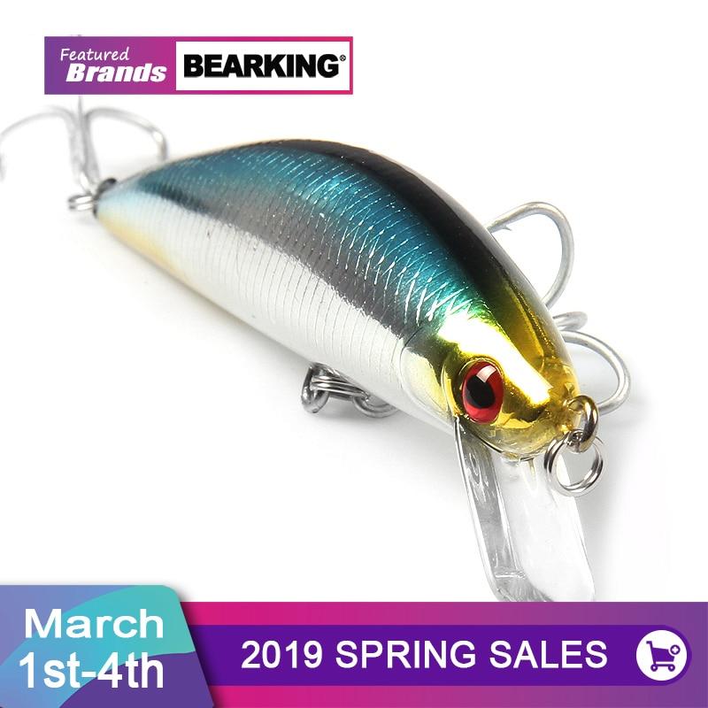 BearKing venta al por menor + Señuelos de Pesca 2016 caliente-venta minnow 120mm/40g super hundiendo manivela popper penceil cebo buena calidad