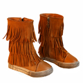 New Girls Snow Winter Boots Children Shoes Tassel Warm Short For Kids Flat Casual Fringe Martin Boot Fashion Little Kid Footwear