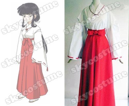 Hot Inuyasha Kikyo Kimono Cosplay Costume Adult Women Kimono Cosplay Costume Full Set