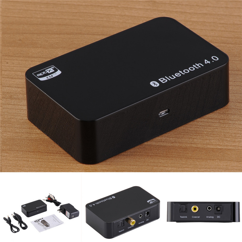 Wireless Receiver with APTX NFC CSR EU/US Bluetooth 4.0 Music APT-X Audio Stereo for iphone Android smartphone mp3 A2DP black h 266 bluetooth music receiver a2dp v1 2 wireless receiver adapter usb with nfc function apple pay for iphone 6 plus black