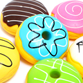 10cm Sweet Roll Charms Big Kawaii Multy-mood Bread Squishy Cell Phone Bag Straps free shipping