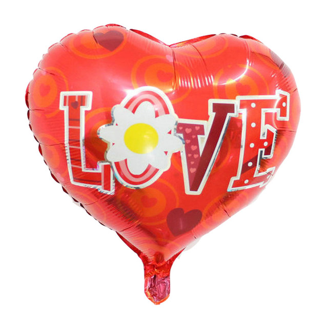 Heart Shaped Aluminum Foil Balloon