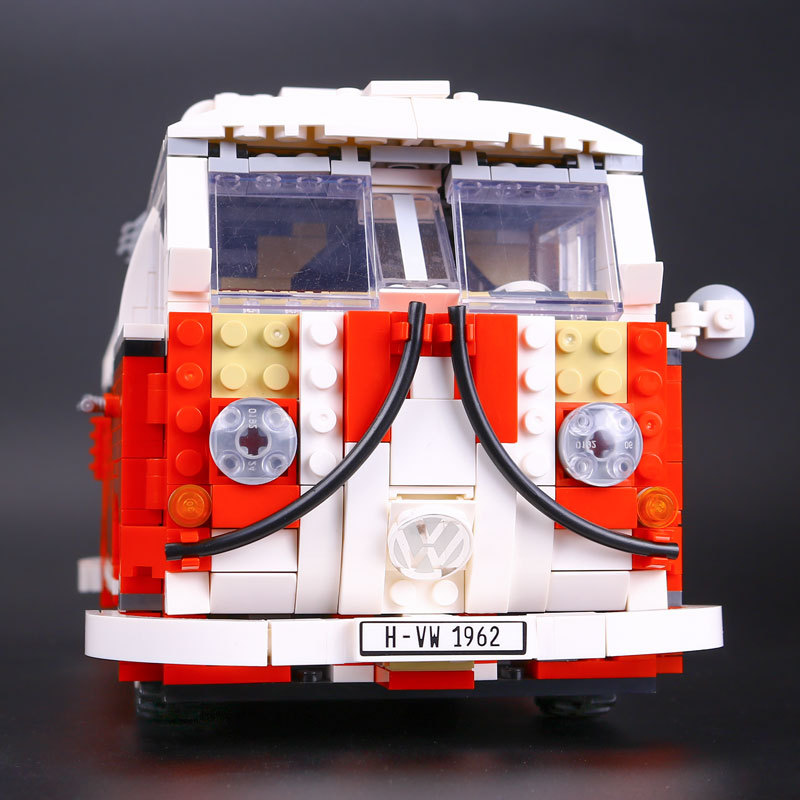 цены  YILE 006 21001 the T1 Camper Van Model Building Blocks kits Compatible with lego 10220 Technic car Toys