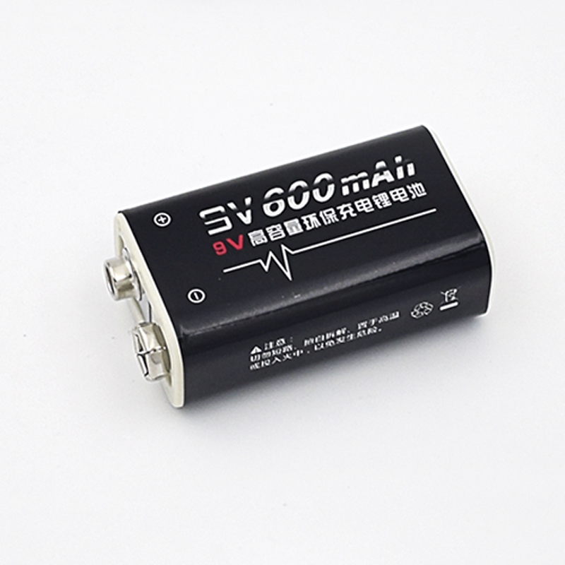 16 pack 600mAh Li-ion 9 V Rechargeable Batteries For Smoke detectors Wireless Microphones free shipping