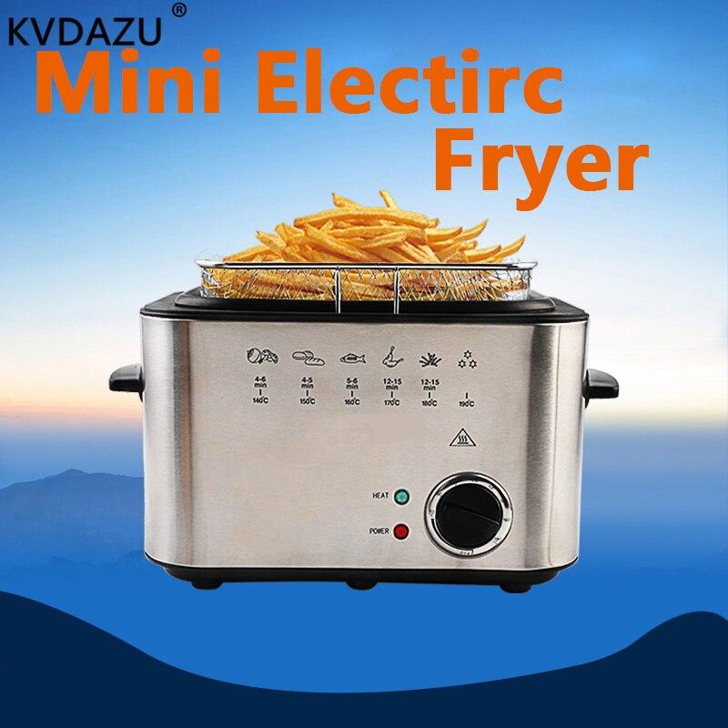 Friteuse à huile électrique multifonction ménage sans fumée friteuses profondes huile machine à frire four frites gril poulet poisson pot