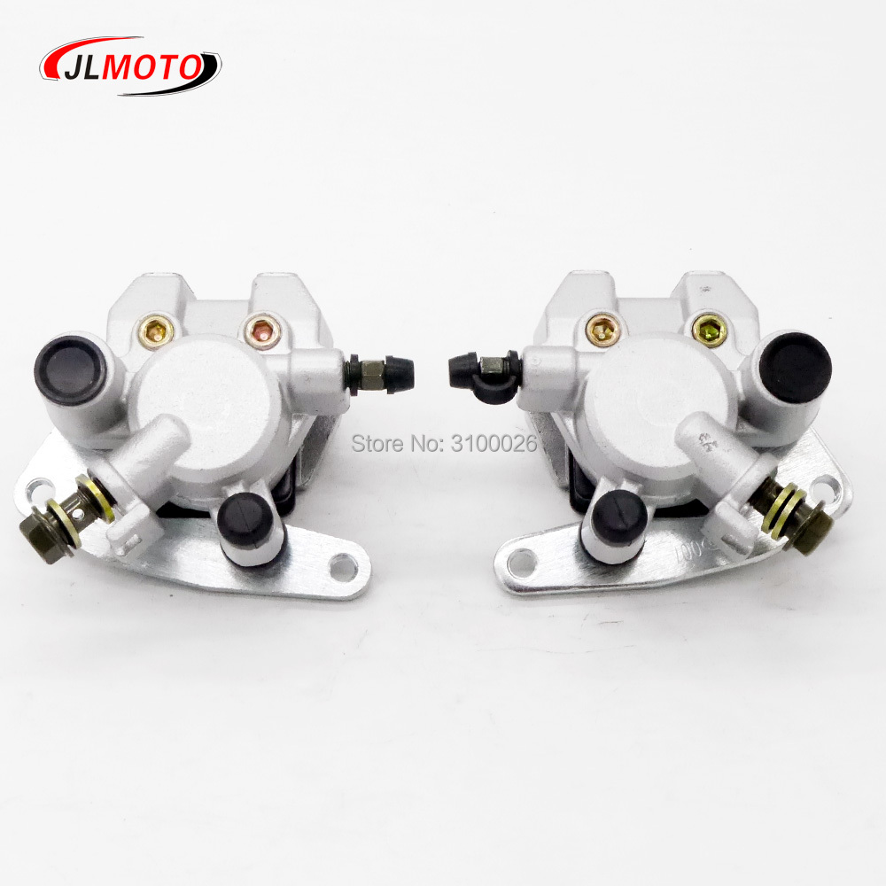 1Pair/2pcs Left & Right Front Brake Caliper Set Fit For YAMAHA ATV GRIZZLY 350 YFM350 2007-2014 Quads Bike Parts