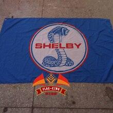 Shelby автомобильный выставочный флаг, флаг Королевского бренда, полиэстер 90x150 см выставка и баннер, выставка и место продажи флаг