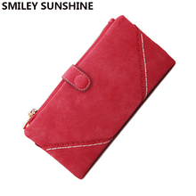 Vintage Women Wallet Famous Brand Zipper Wallet