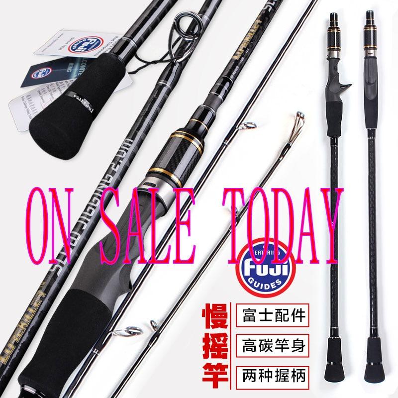 Lurekiller japan Full fuji guide spinning casting2 0m slow jigging rod carbon jig rod boat rod