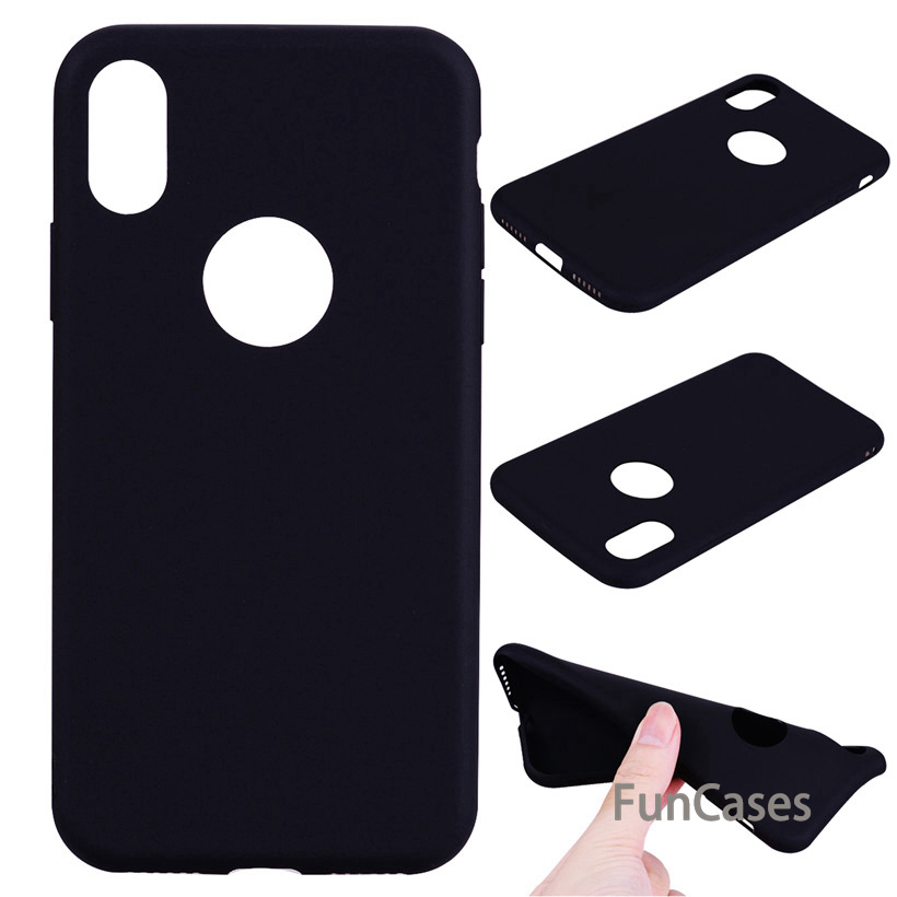 Case For iPhone X Case Plain Soft TPU For iPhone 6 6S 7 8 Plus Silicone For iPhone 5S SE Cover Protective Back Cover appble