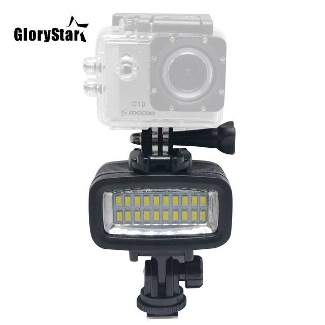 b451dd8d518a4f 40M Diving LED Video Light Underwater Gopro 20 LED Light 130ft Waterproof  Lighting700LM for GoPro Hero 6/5/4 SJCAM Action Camera