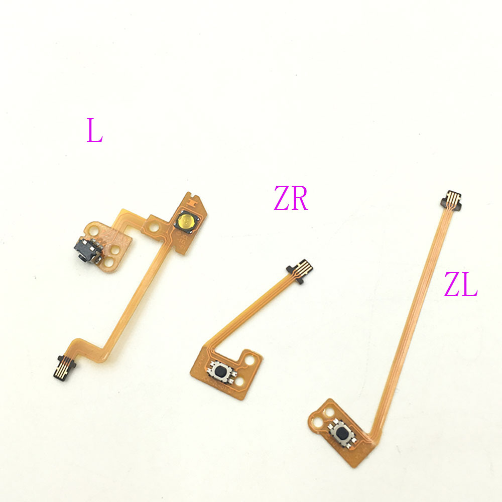 Replacement Part ZR ZL L Button Key Ribbon Flex Cable For Nintendo Switch Joy-Con NS power switch key vibration motor vibrator replacement flex cable for samsung galaxy note 3 n9000