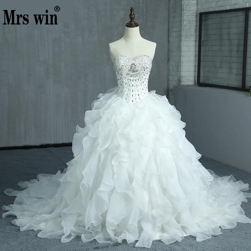 Robe De Mariage Principessa Bling Cristalli Di Lusso Abito Da Sposa Bianco Abito Da Sposa 2018 Abito Da Sposa Vestido De Noiva Custom Made