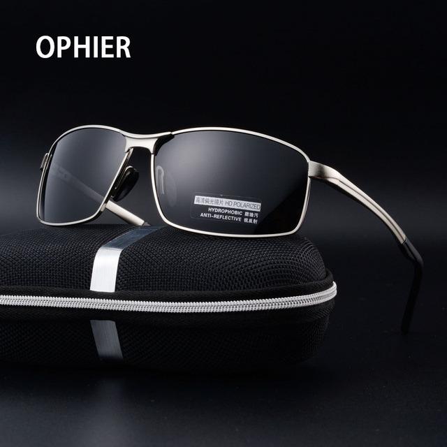 OPHIER Marca Designe Clássico dos homens Óculos Polarizados Óculos de Sol Masculinos Espelho de Condução Óculos De Sol Para Homens Óculos De Sol Eyewears Acessórios