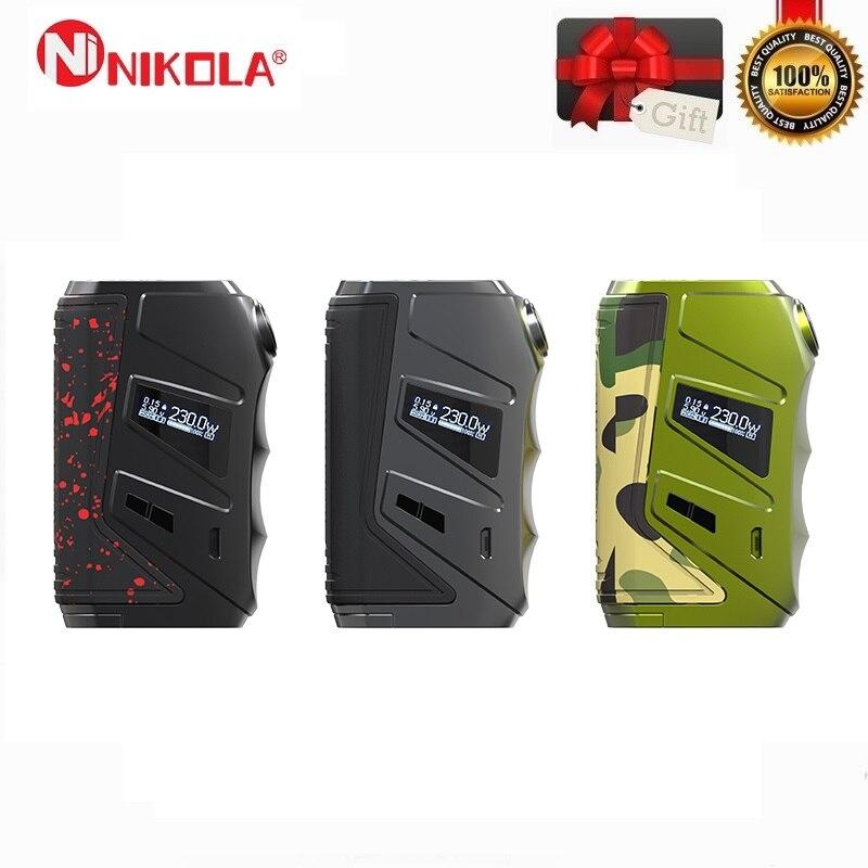 Nikola Wolverine 230 W boîte Mod Cigarette électronique TC Mod 18650 adapté pour 510 fil Vape réservoir vaporisateur VS Nikola Niagara Squonk