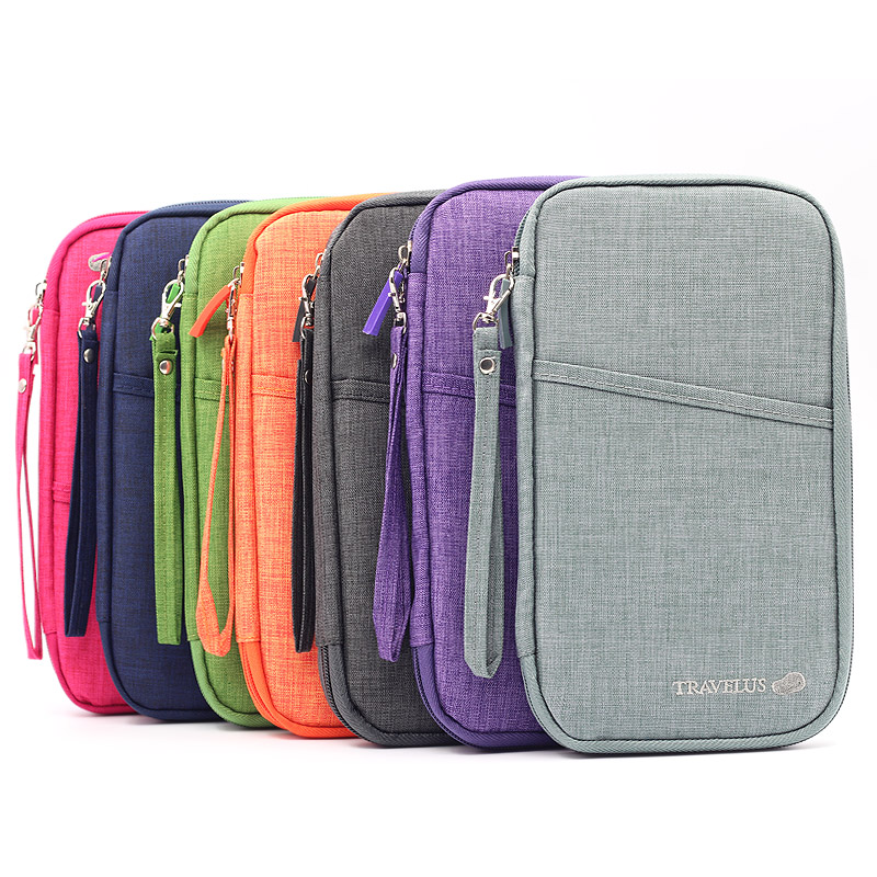 MultiFunction Travel Wallet Big Capacity Passport Cover Documents Card Holder 7 colors Wristlets Clutch Passport Organiser Case