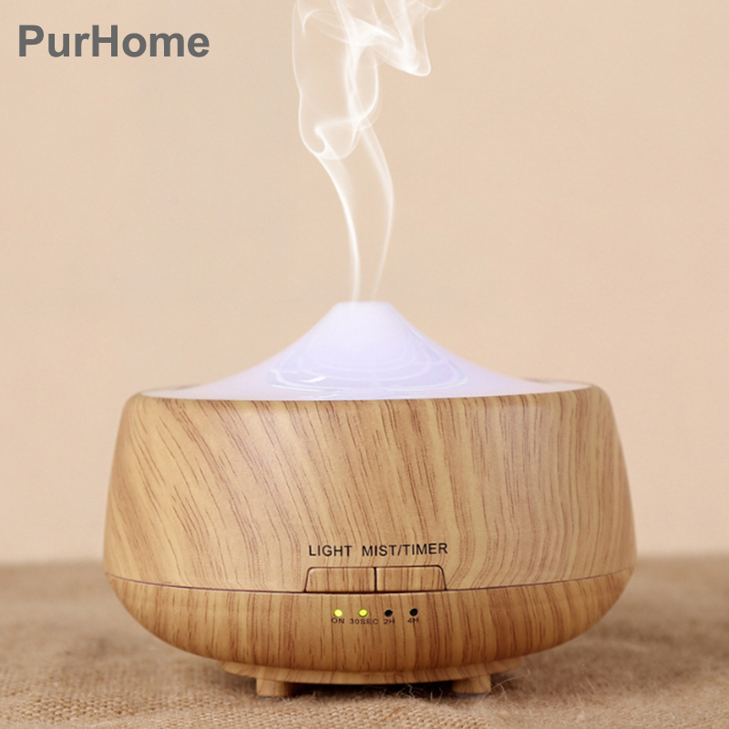 Ultrasonic Air Humidifier Essential Oil Diffuser Aroma Lamp Aromatherapy Electric Aroma Diffuser Mist Maker for Home Wood 250ml denmark classic design lamp louis poulsen artichoke pendant light aerospace aluminum 38cm 48cm pine cones echinacea light