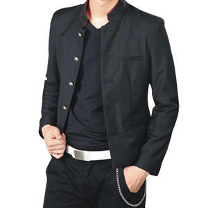 Image 5 - Бесплатная доставка, новинка, японская школьная форма для студентов, мужской Тонкий Блейзер, китайская туника, повседневный пиджак