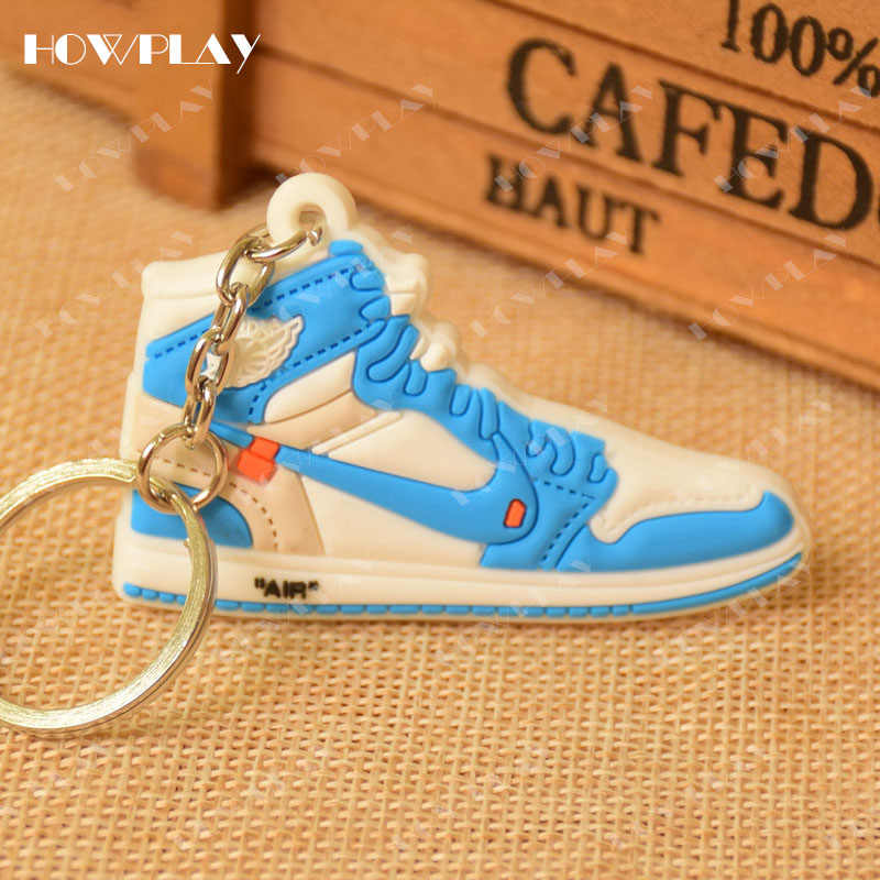 size 40 0bc19 eead8 ... HowPlay mini sneakers jordan 1 keychains bag charm basketball shoe  model keyring AJ1 backpack pendant key ...