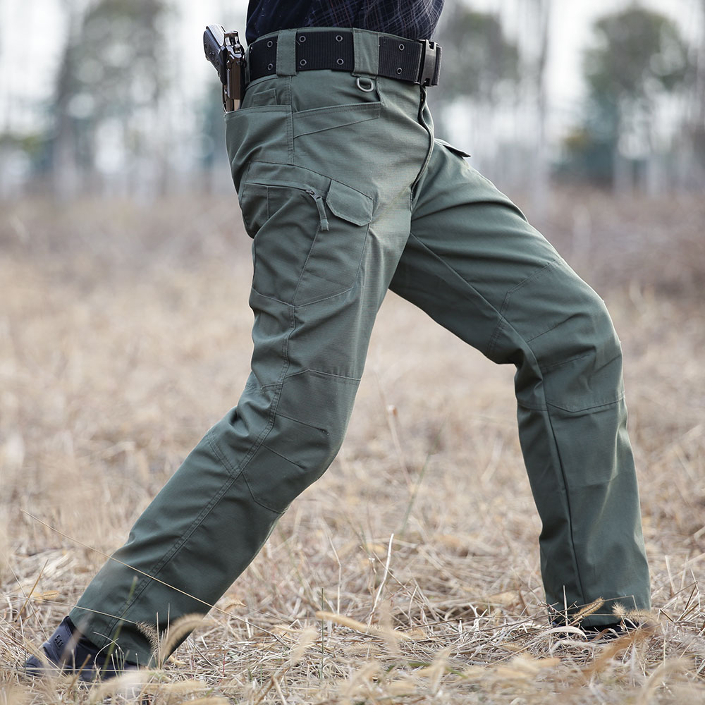 ФОТО DOMAN Outdoor Men's Army Military Pants Tactical Combat Training Army Green Commando Trousers Slim Pockets Hunting Pants for Men