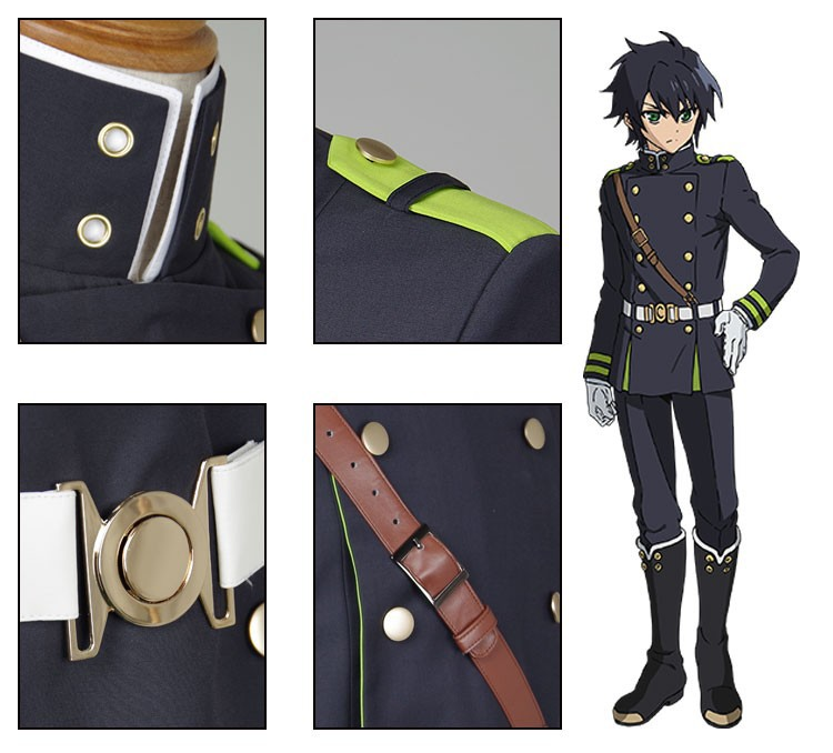 Seraph of the End Owari no SerafuYuichiro Hyakuya Uniform Cosplay Costume_05