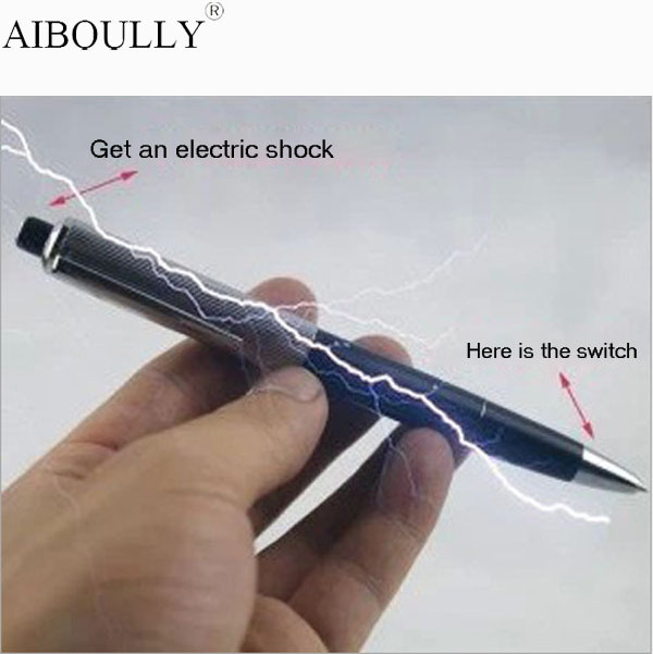 100% Safe Funny Promotion Fancy Shocking Ball Point Pen Shocking Electric Shock Joke Prank Trick Fun Novelty Friend's Best Gift