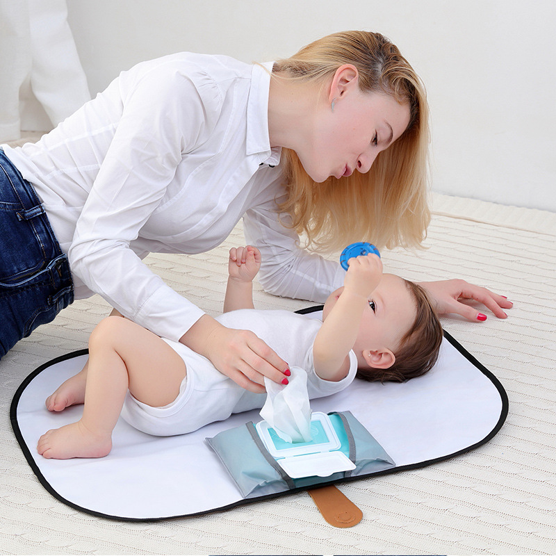 Cheap Portable Foldable Baby Diaper Changing Mat Waterproof Travel Nappy Change Floor Play Pad Covers Trocador De Fralda