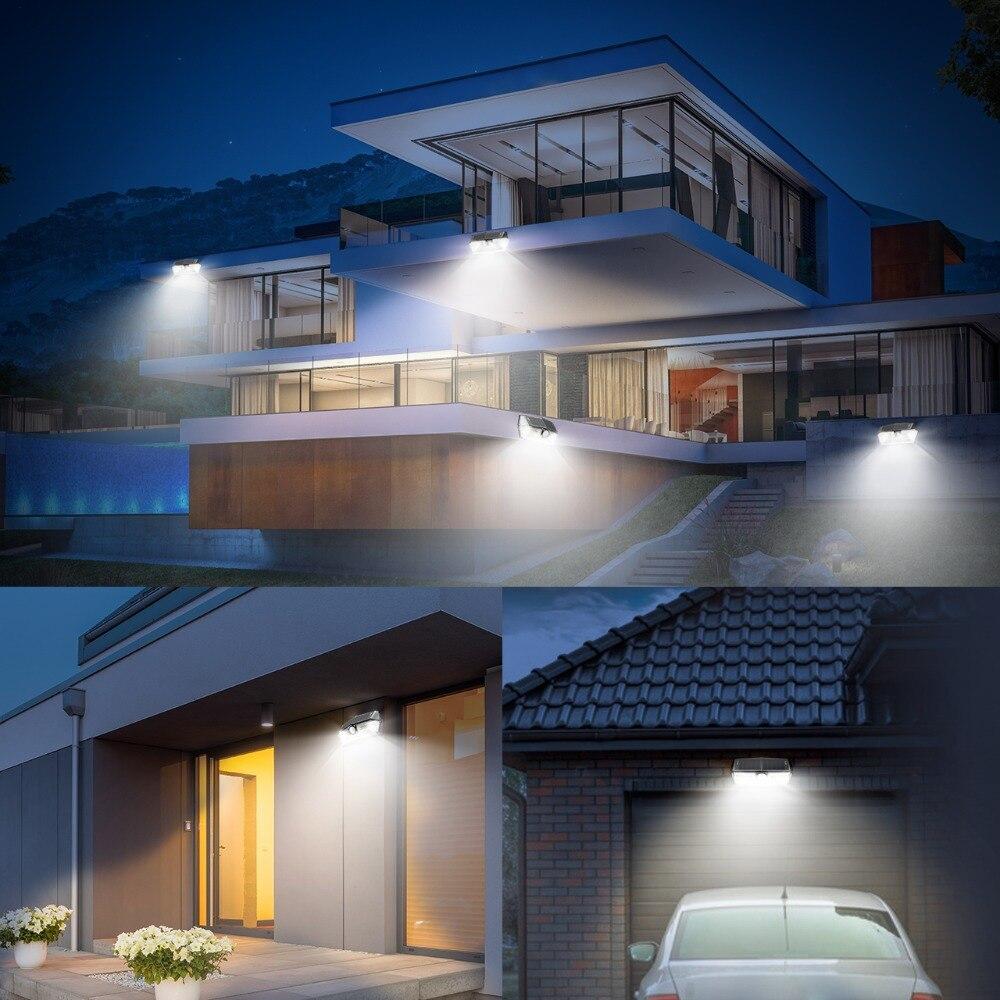 2 Pack/lot Mpow 40 LED Solar Light Outdoor Motion Sensor Lights 24.5% High-efficient Solar Panel IP66 270 Super Wide Angle Lamp