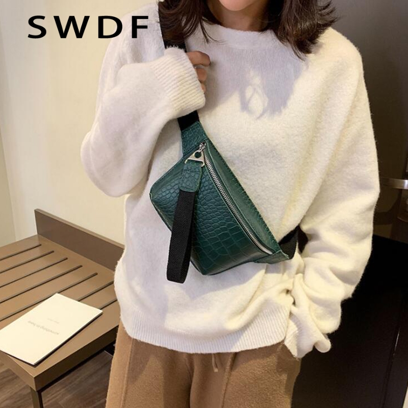 SWDF 2019 New Waist Bag Female Belt Fashion Waterproof Chest Handbag Unisex Fanny Pack Ladies Waist Pack Belly Bags Purse Wallet